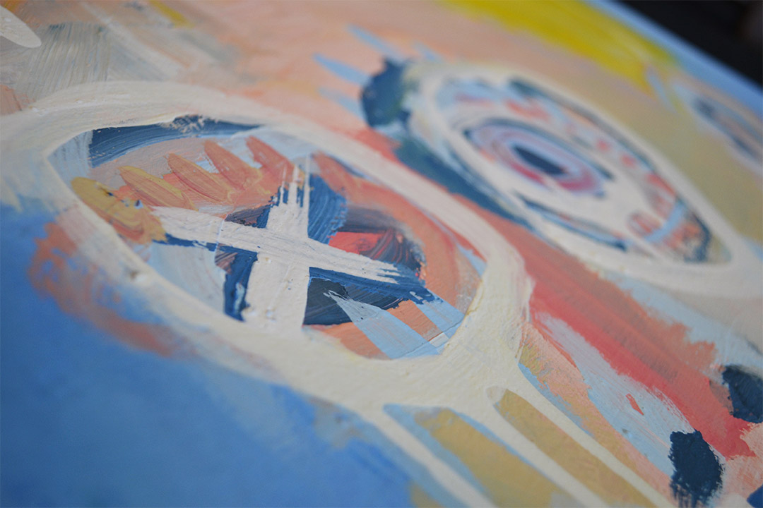 Zemansky Martin painting Blonde detail 01