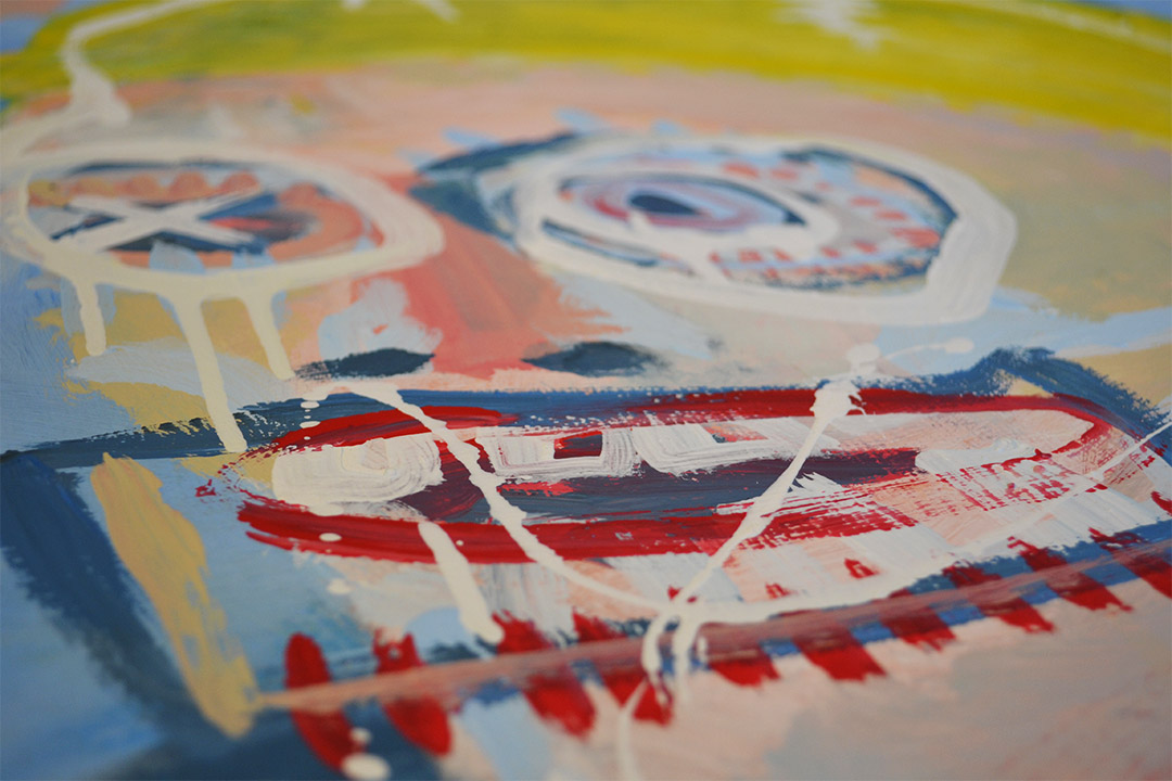 Zemansky Martin painting Blonde detail 03