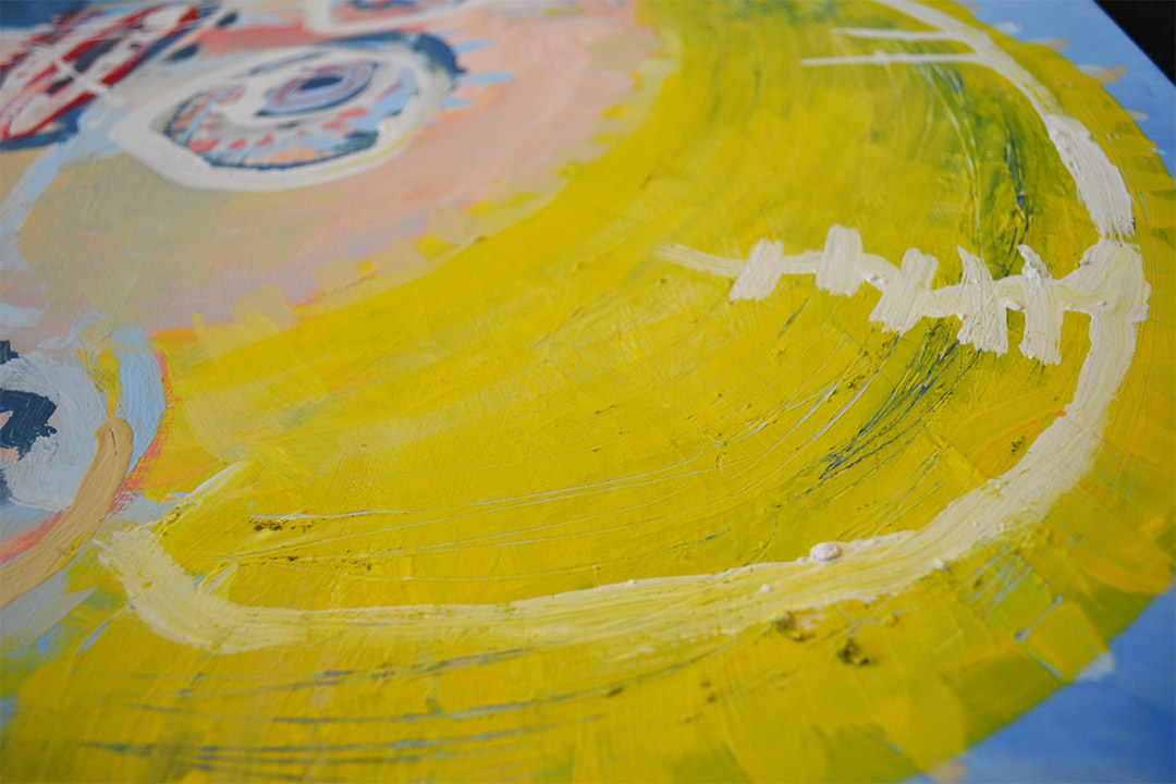 Zemansky Martin painting Blonde detail 04