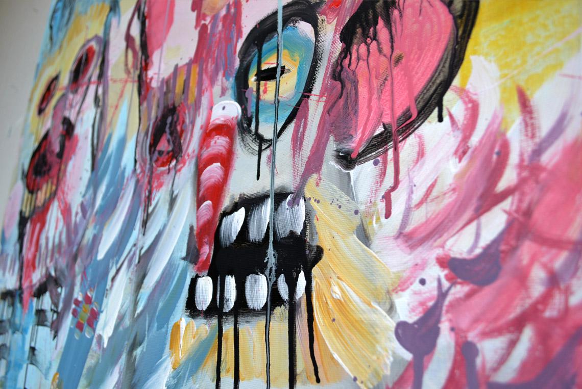 Zemansky Martin painting Carnival no. 01 detail 01