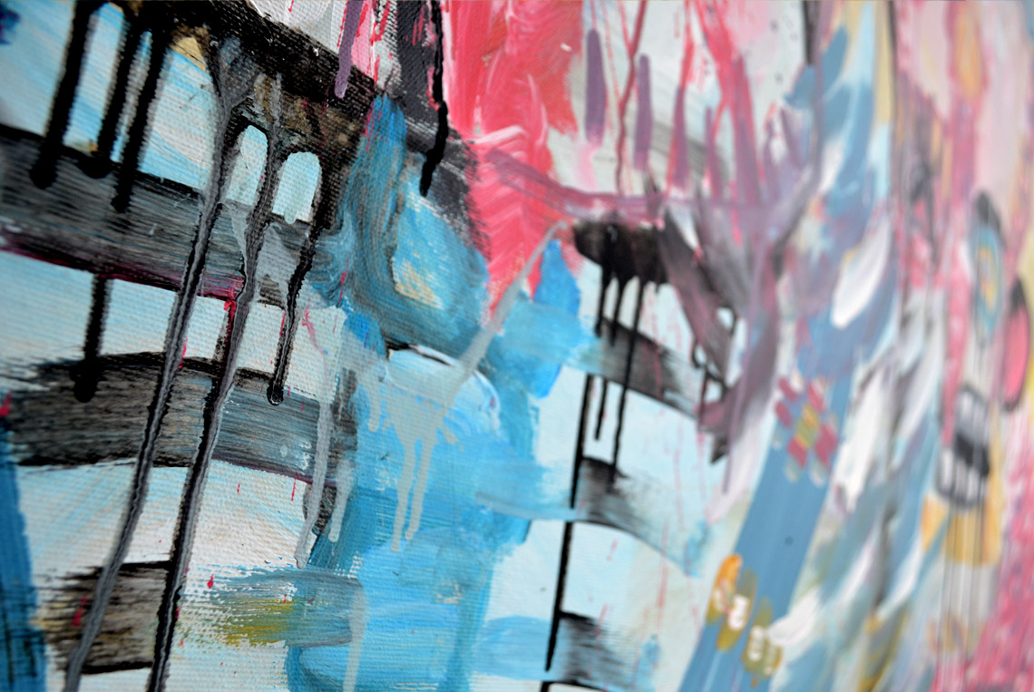 Zemansky Martin painting Carnival no. 01 detail 03
