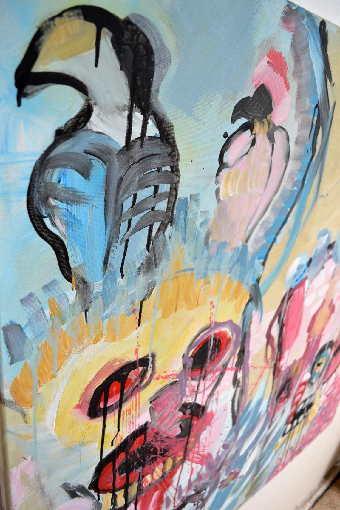 Zemansky Martin painting Carnival no. 01 detail 04