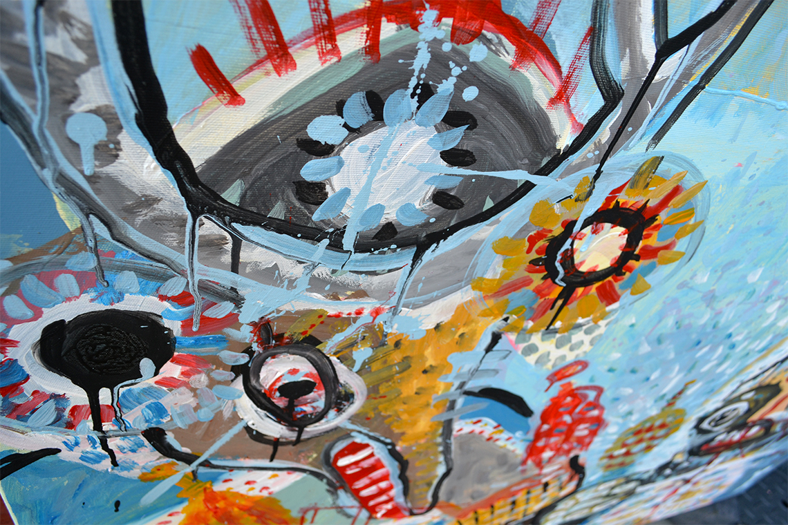 Zemansky Martin painting Carnival no. 03 detail 01