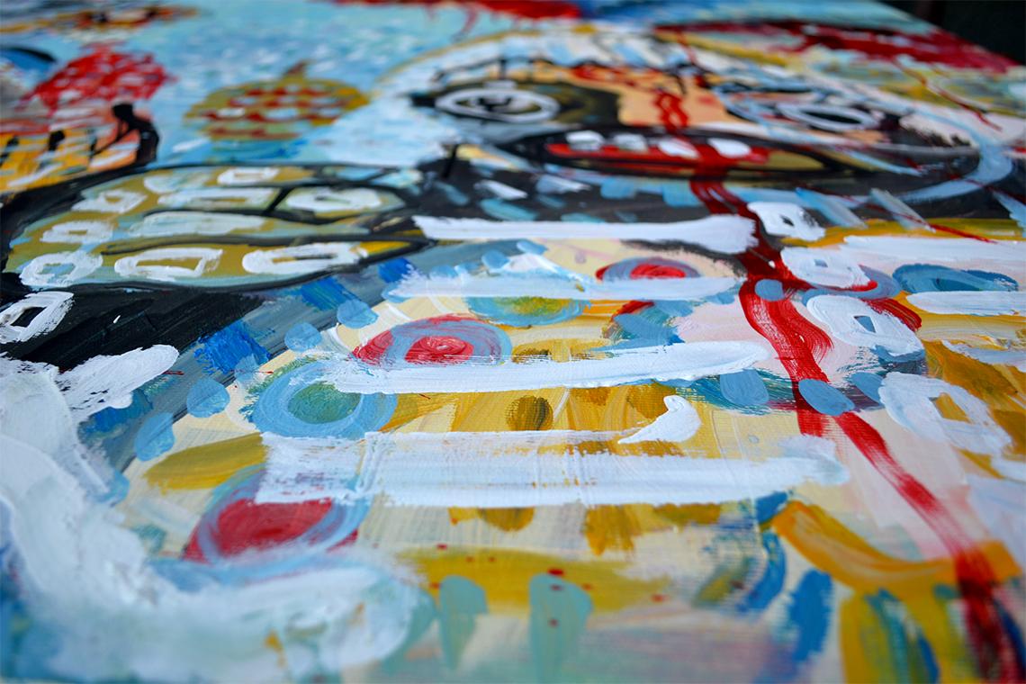 Zemansky Martin painting Carnival no. 03 detail 04