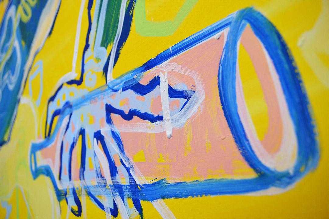 Zemansky Martin painting Guzzler detail 02