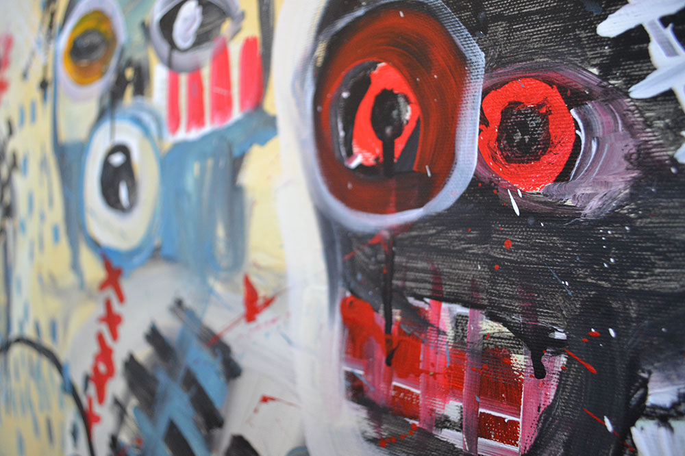 Zemansky Martin painting Heads no. 01 detail 02