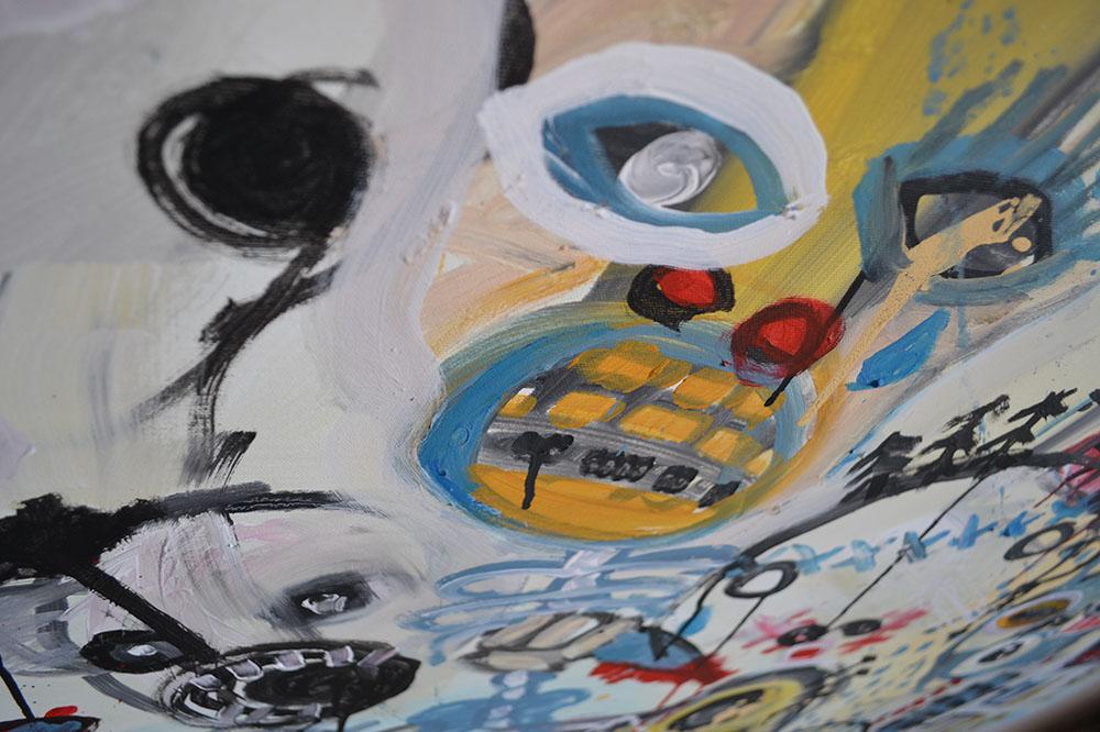 Zemansky Martin painting Heads no. 01 detail 03