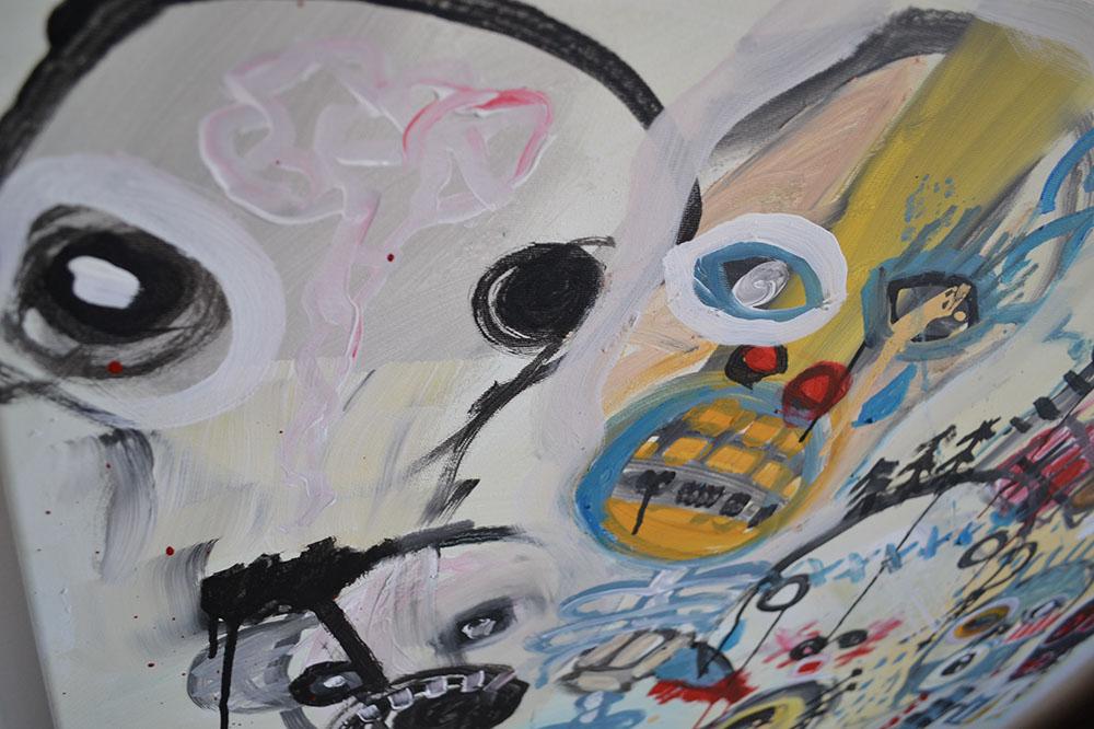 Zemansky Martin painting Heads no. 01 detail 04