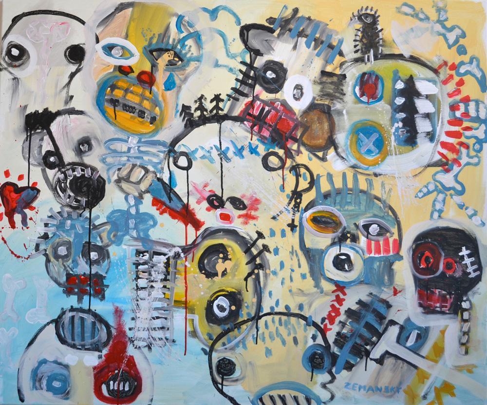 Zemansky Martin painting Heads no. 01