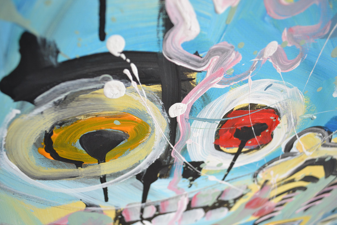 Zemansky Martin painting Heads no. 03 detail 02