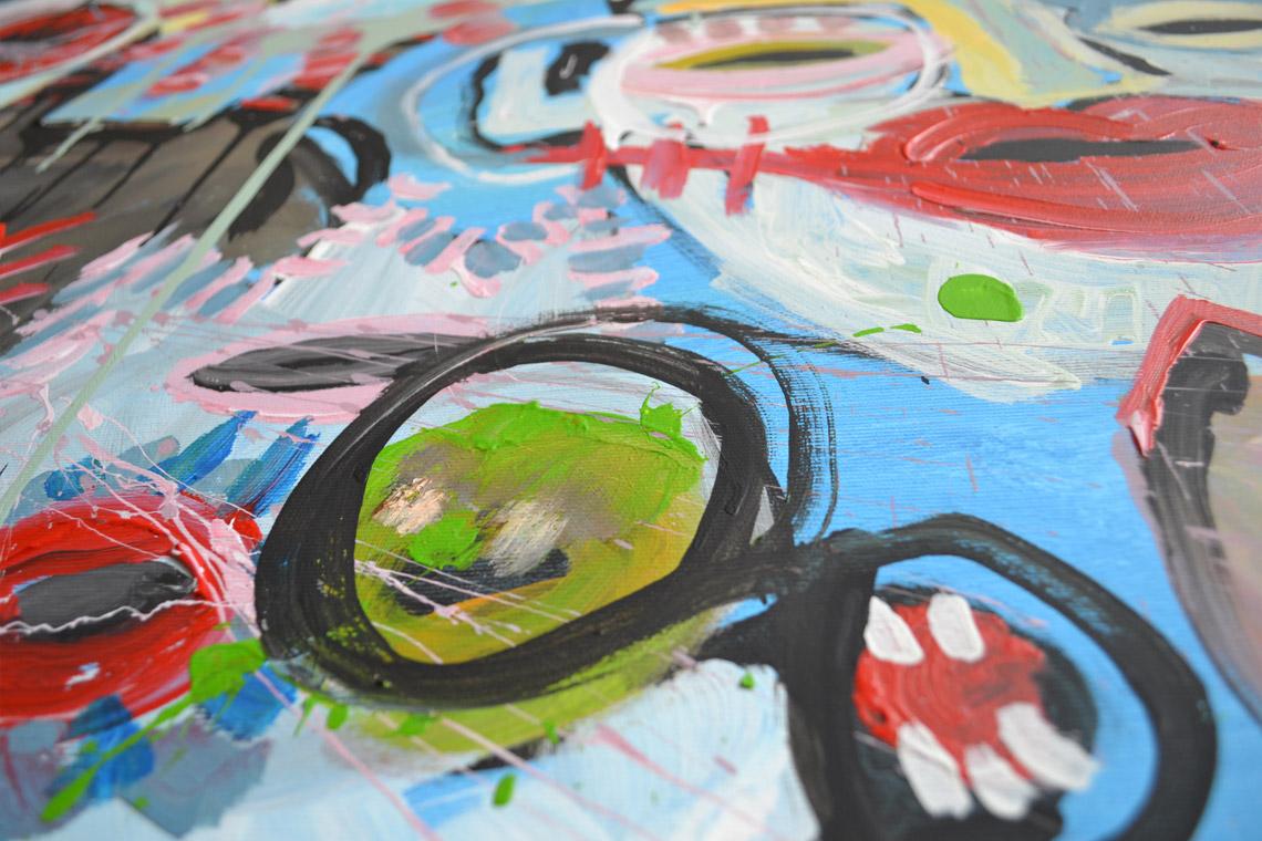 Zemansky Martin painting Heads no. 03 detail 03