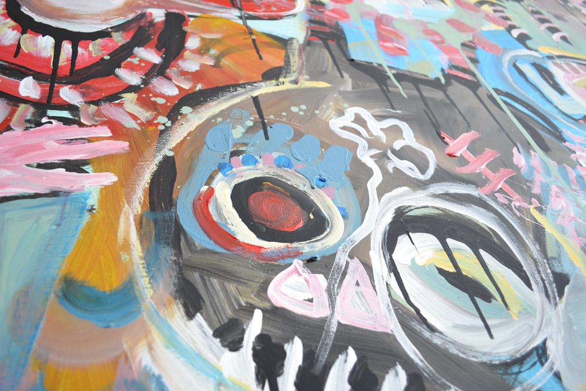 Zemansky Martin painting Heads no. 03 detail 04