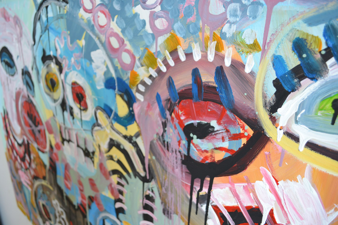 Zemansky Martin painting Heads no. 03 detail 05