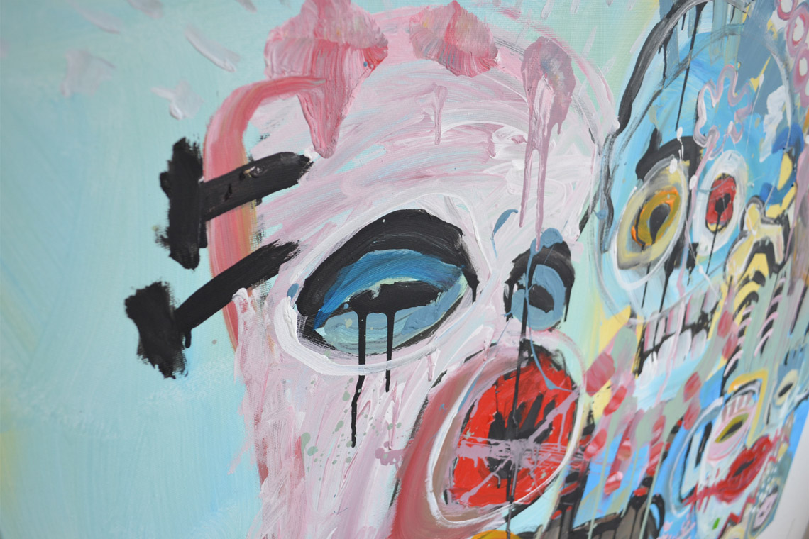Zemansky Martin painting Heads no. 03 detail 06