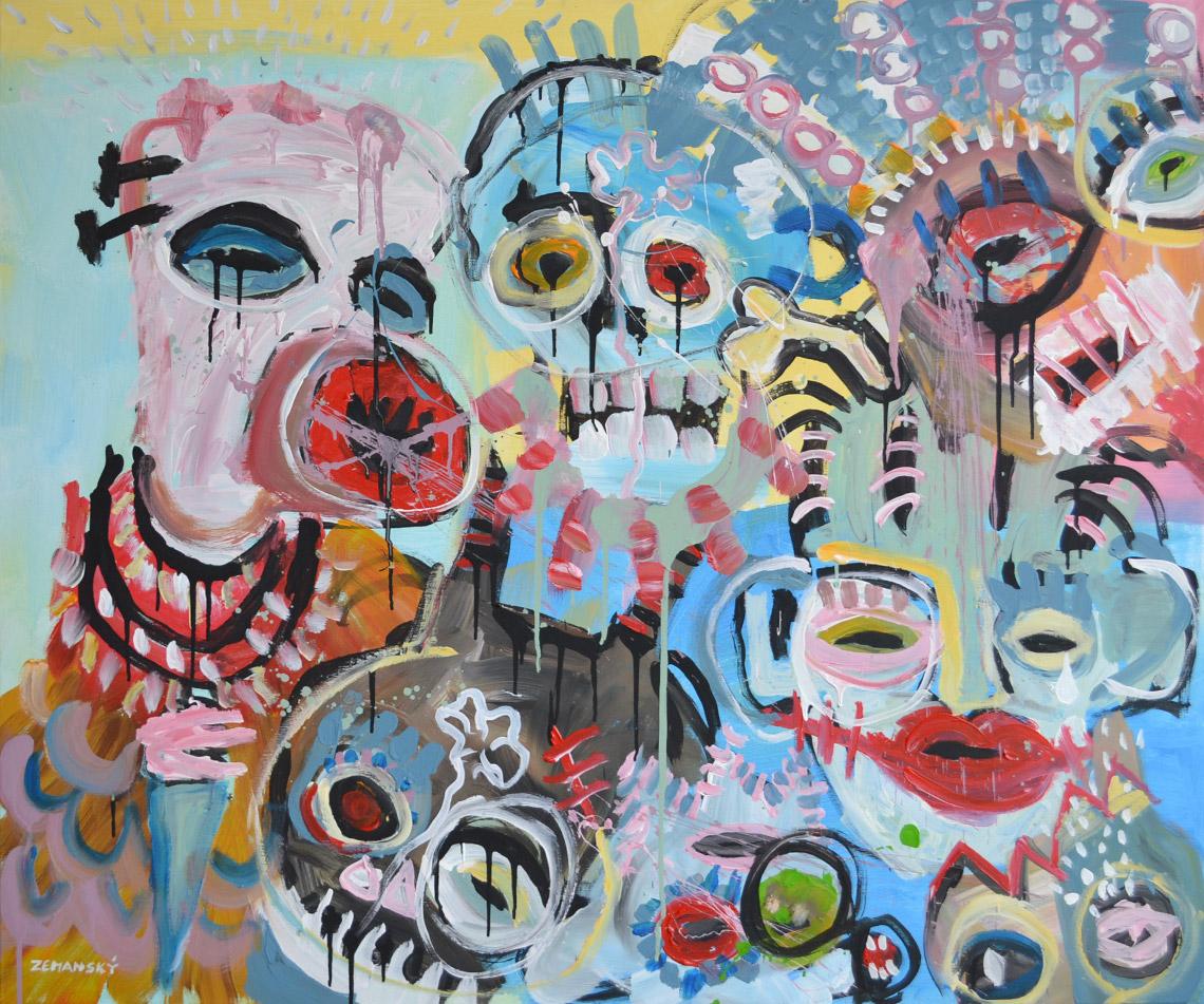 Zemansky Martin painting Heads no. 03