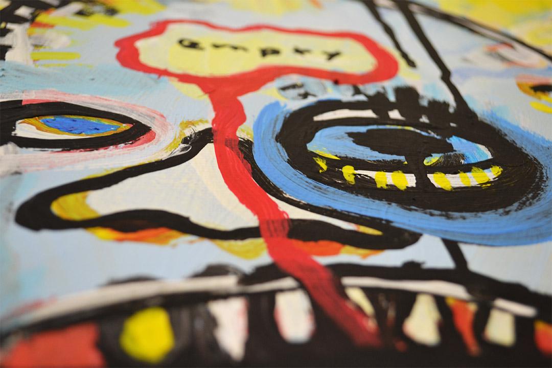Zemansky Martin painting Heads no. 5 detail 01