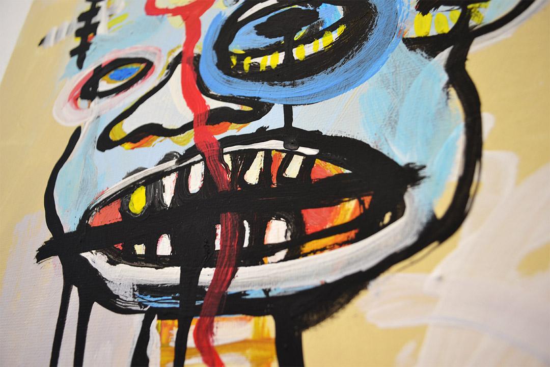 Zemansky Martin painting Heads no. 5 detail 02