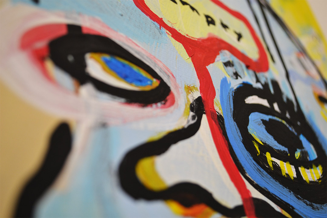Zemansky Martin painting Heads no. 5 detail 03