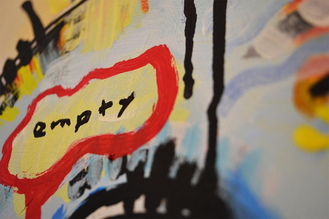 Zemansky Martin painting Heads no. 5 detail 04