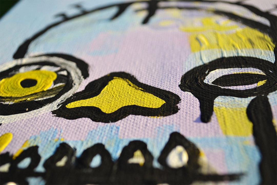 Zemansky Martin painting Heads no. 6 detail 02