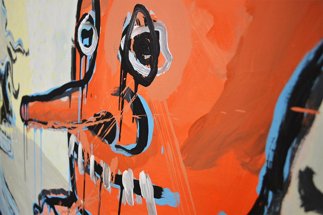 Zemansky Martin painting Masks no. 01 detail 02