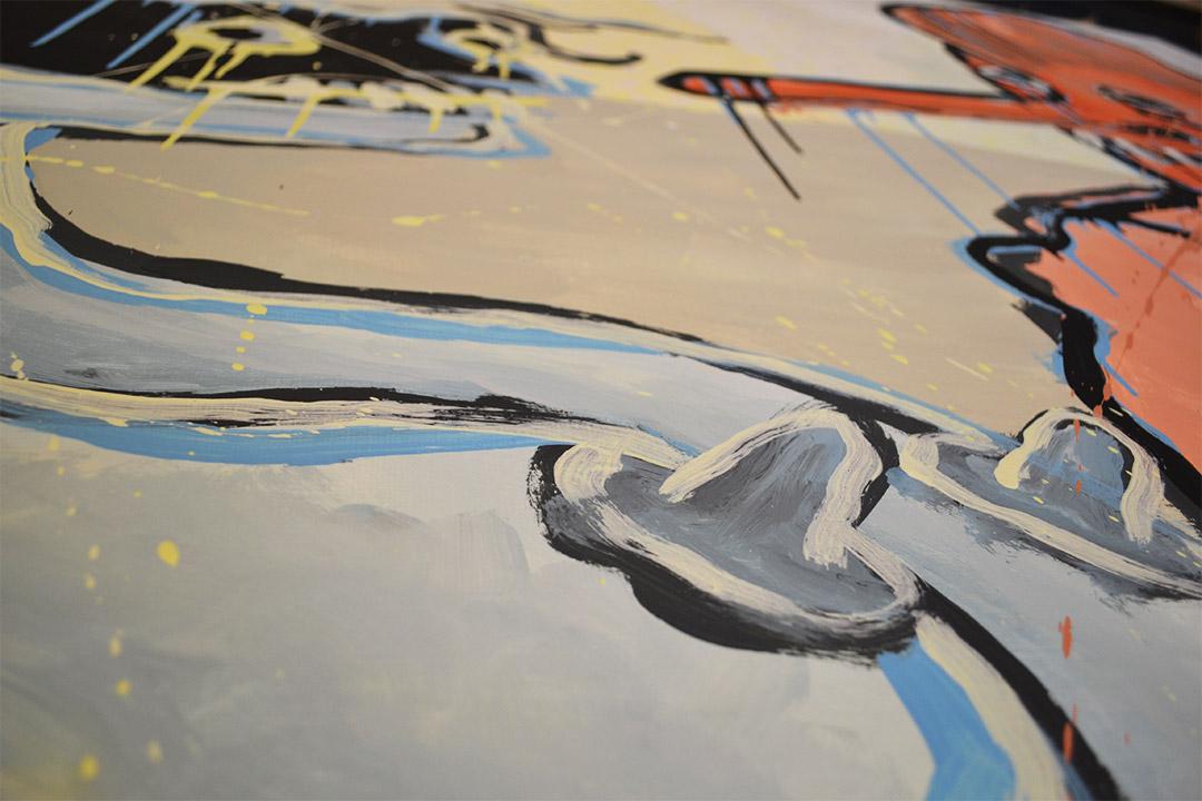 Zemansky Martin painting Masks no. 01 detail 04