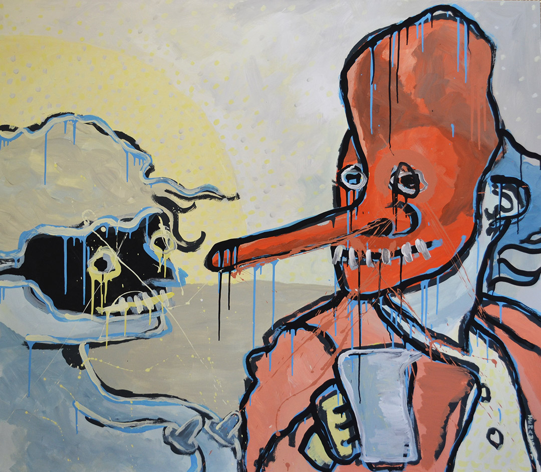 Zemansky Martin painting Masks no. 01