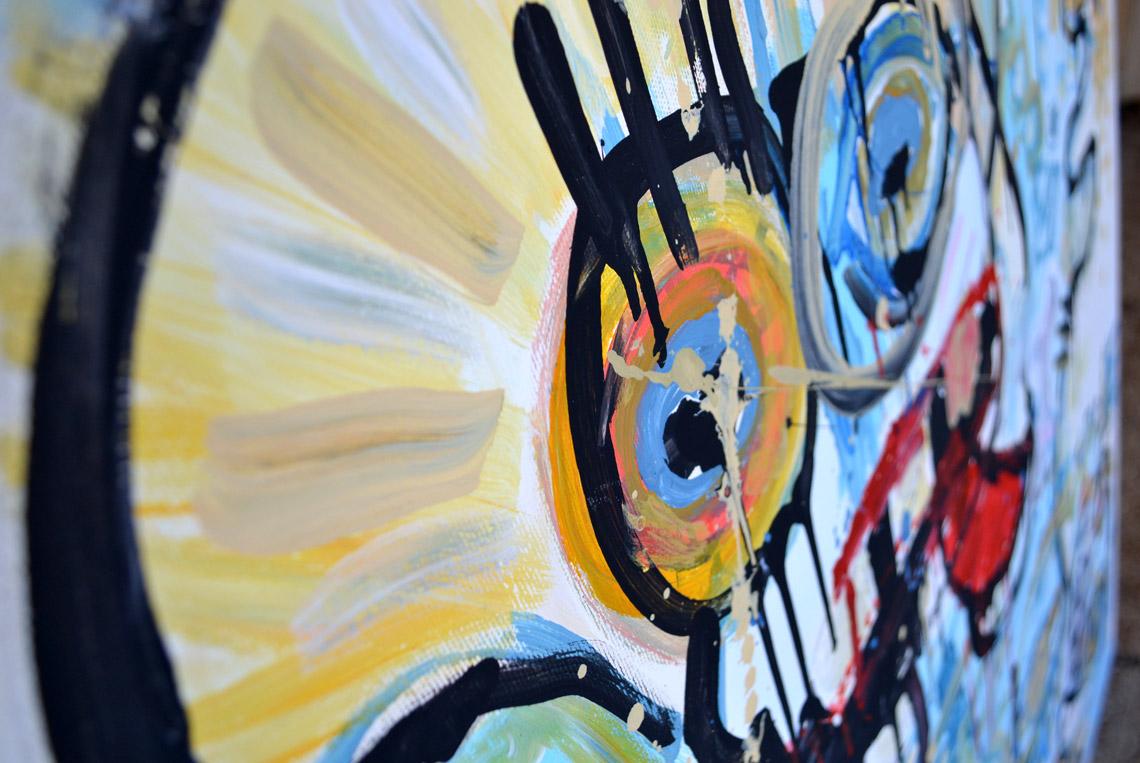 Zemansky Martin painting Say Hello no. 03 detail 01