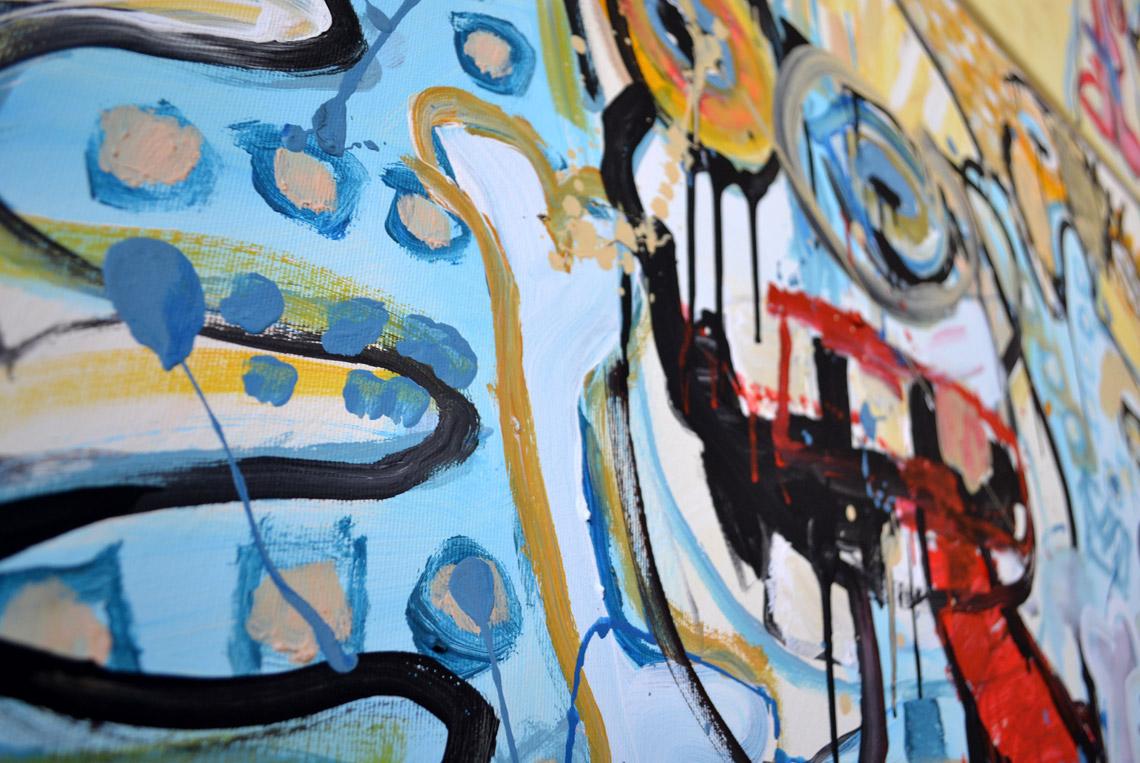 Zemansky Martin painting Say Hello no. 03 detail 02