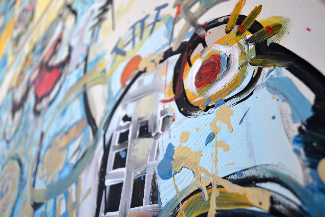 Zemansky Martin painting Say Hello no. 03 detail 04