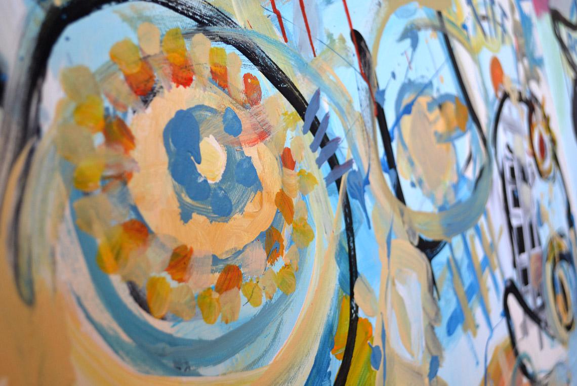 Zemansky Martin painting Say Hello no. 03 detail 05