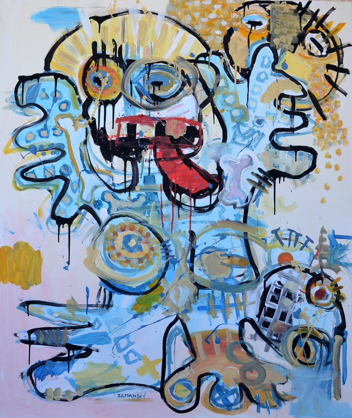 Zemansky Martin painting Say Hello no. 03