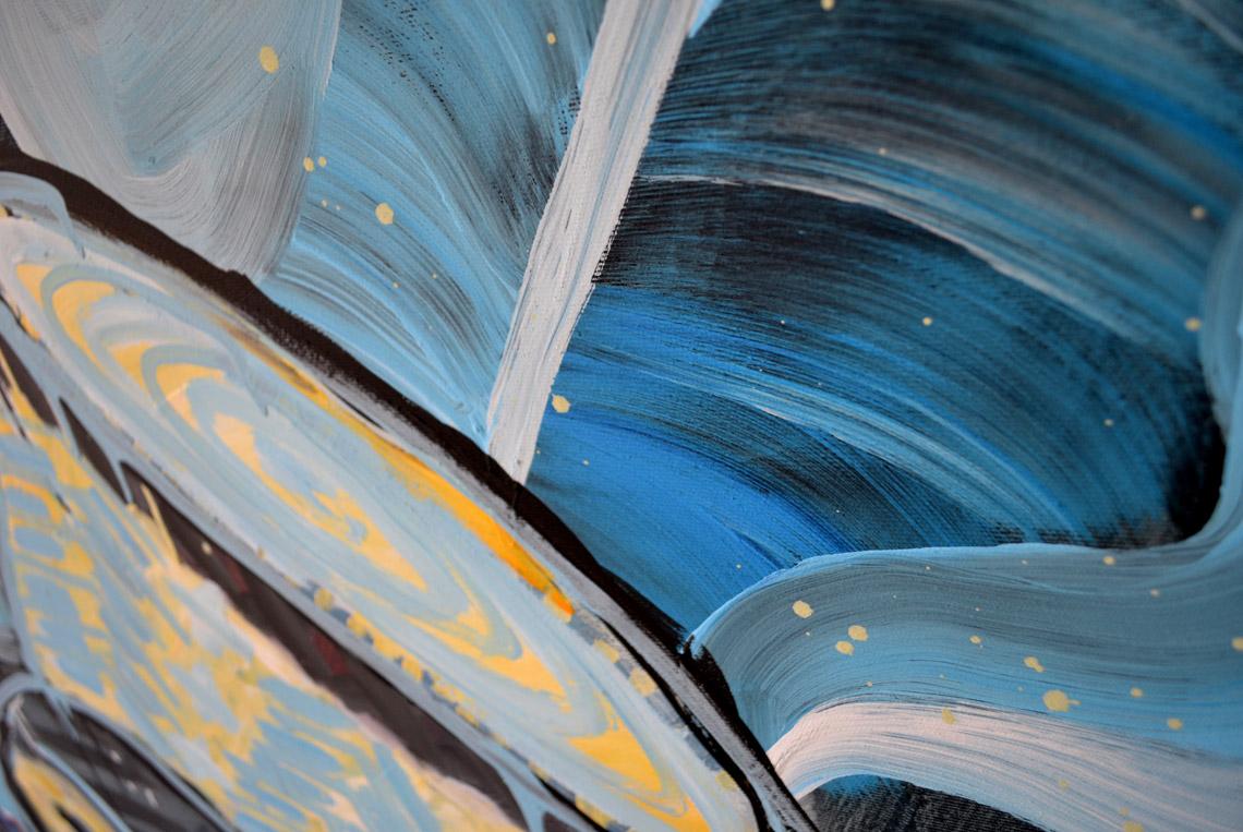 Zemansky Martin painting Tribeman no. 02 detail 02
