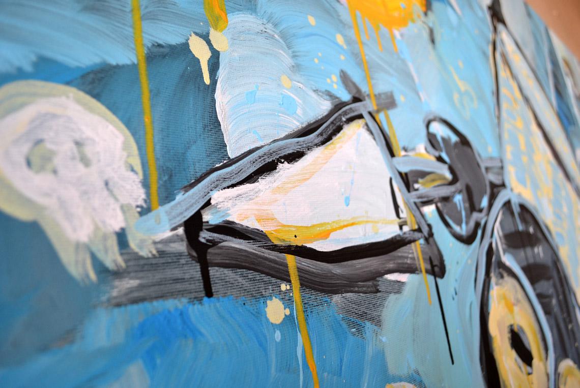 Zemansky Martin painting Tribeman no. 02 detail 05