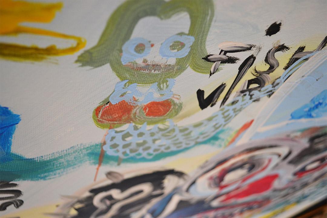 Zemansky Martin painting Water King detail 02