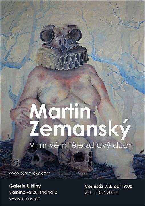 Martin_Zemanský_vystava_U_Niny_poster