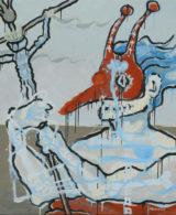 Martin Zemansky Masks II 120 x 100 cm Acrylic on canvas 2017