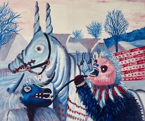 Martin-Zemanský-malba-obraz-Mare-akryl-na-plátně-painting